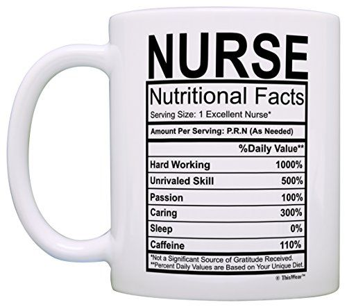 ac488020 Nurse Gifts Nurse Nutritional Facts Label Nursing Gag Gift Gift Coffee Mug  Tea Cup White | Products | Nurse mugs, Coffee mugs, Teacher gifts