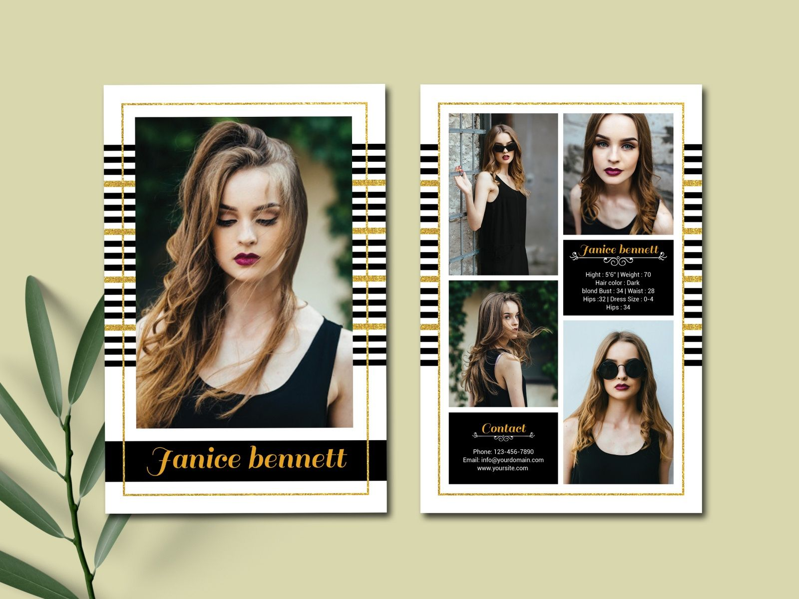 Model Comp Card Templateultimatetemplate On Dribbble Inside Download Comp Card Template Best Business Te In 2020 Model Comp Card Card Template Professional Templates