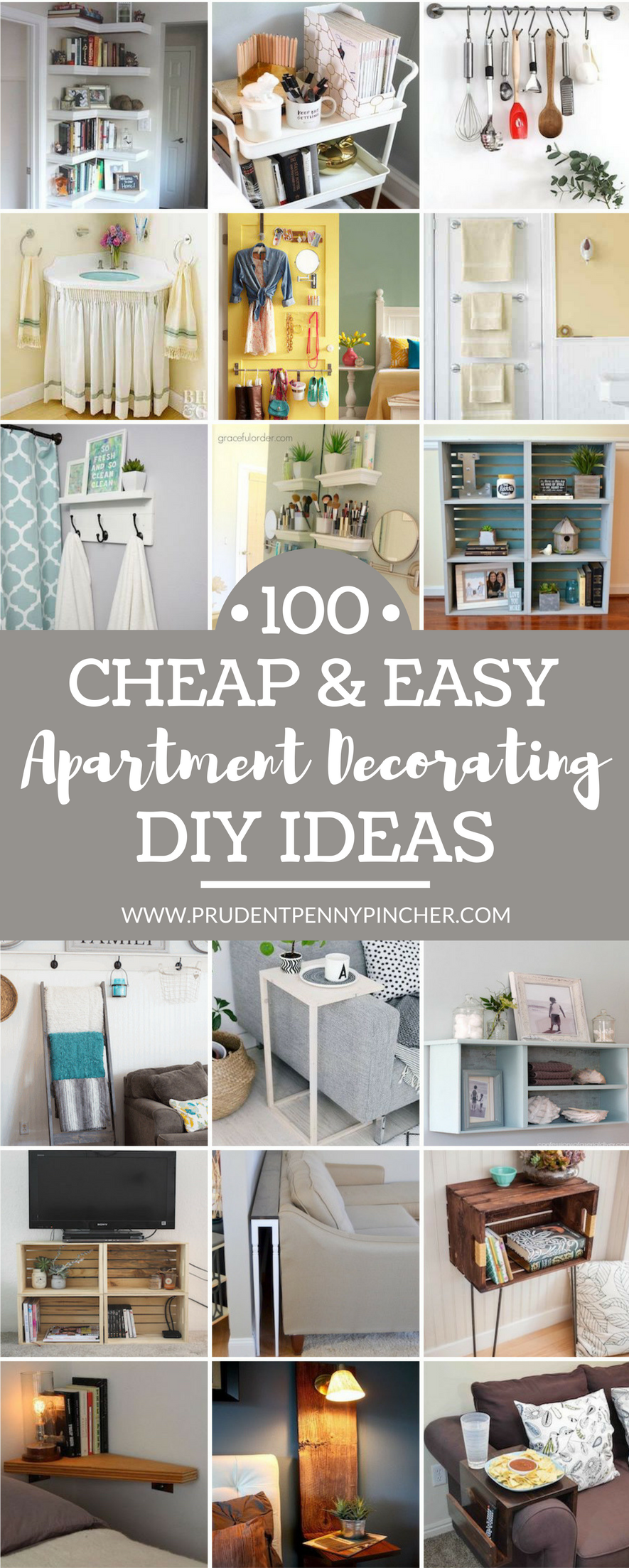 18 DIY Apartment Decorating Ideas  Diy apartment decor, Simple