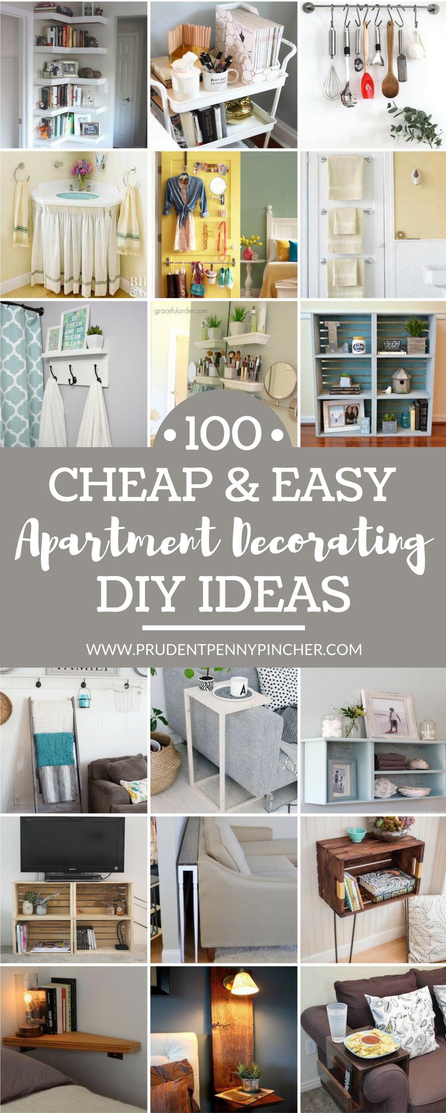 100 cheap and easy diy apartment decorating ideas diy on diy home decor on a budget apartment ideas id=33858
