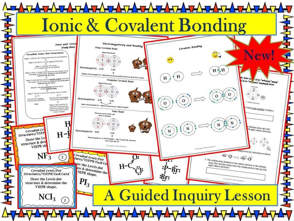 Chemistry Ionic Covalent Bonding Lewis Dot Vsepr Guided