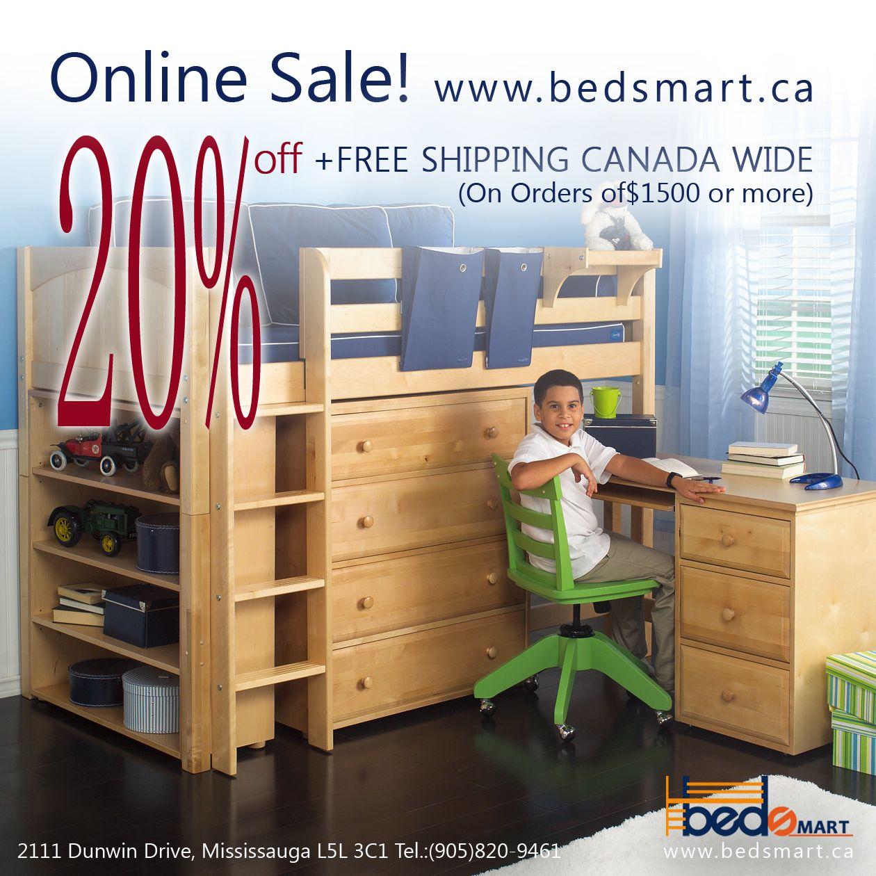 A Mid Loft Bed With Storage Desk By Maxtrix Furniture Maxtrix
