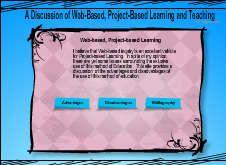 Una discusión vía web de las ventajas e inconvenientes del aprendizaje basado en proyectos.
