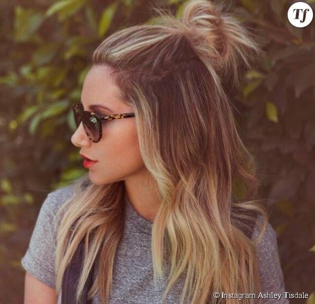 oubliez le bun le hun est la nouvelle tendance cheveux qui monte hair style beauty. Black Bedroom Furniture Sets. Home Design Ideas