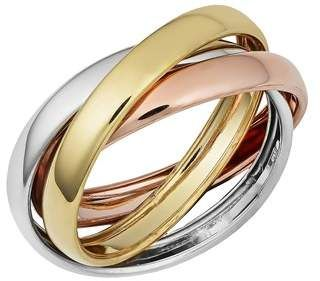 Blue Nile Trio Rolling Ring in 18k Tri-Color Gold 8ObUBq