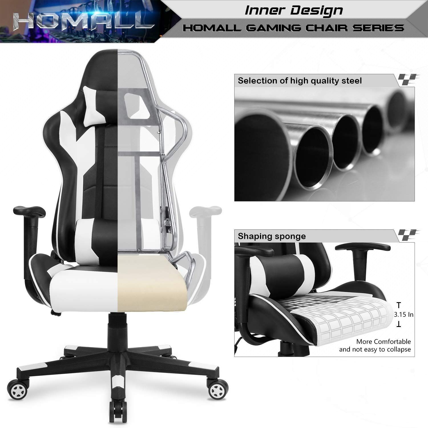Enjoyable Homall Gaming Office Chair Computer Desk Chair Racing Style Ocoug Best Dining Table And Chair Ideas Images Ocougorg
