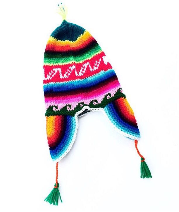 Warm handmade Peruvian chullos Tejido Peruano 9141cfb9133