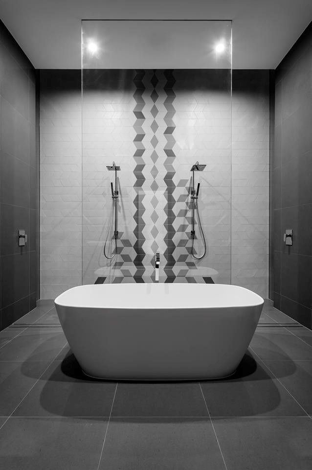 Style Of Exclusive European Tiles Italia Ceramics Adelaide Beautiful - Simple Black White Grey Bathroom Elegant