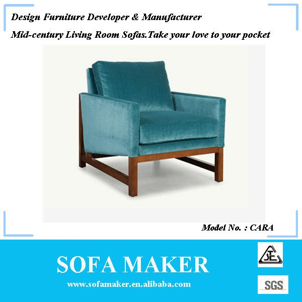 Mid-century vintage fabric one seater sofa chair CARA alibaba - design armsessel schlafcouch flop