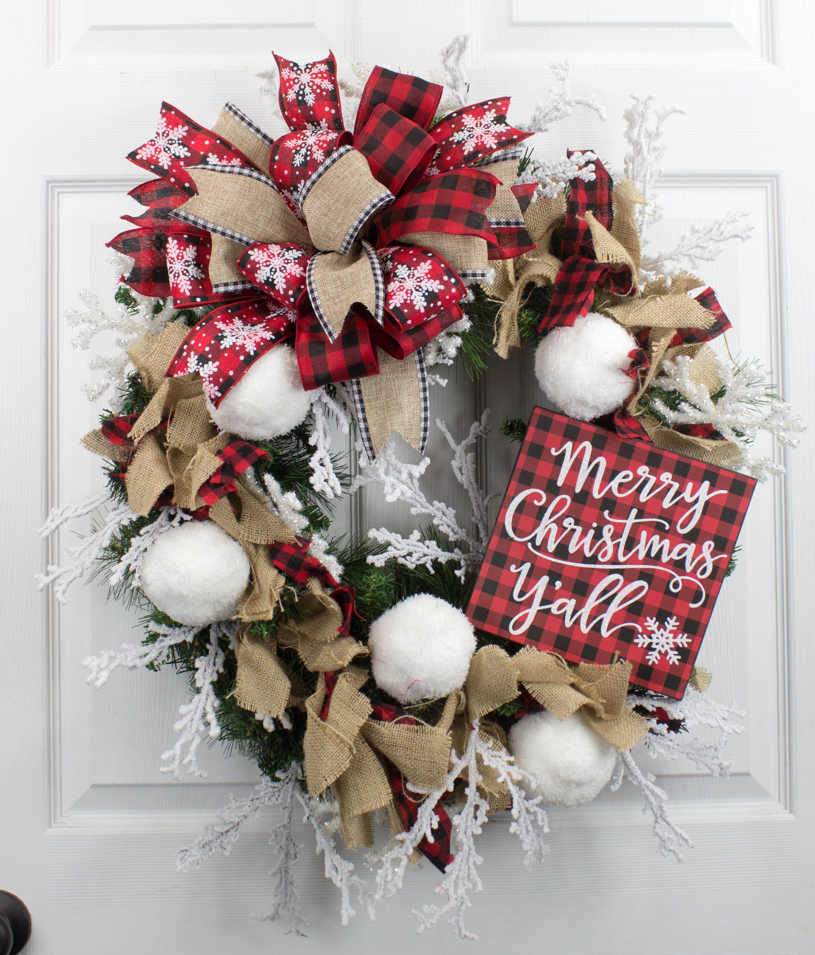 Learn how to make this Merry Christmas Y all Wreath in Terri s