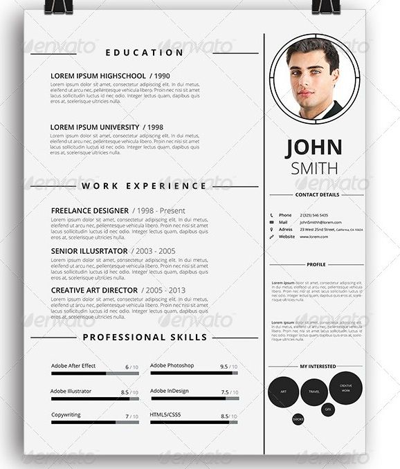 Awesome Resume/Cv Templates | Graphic Design | 56Pixels.Com