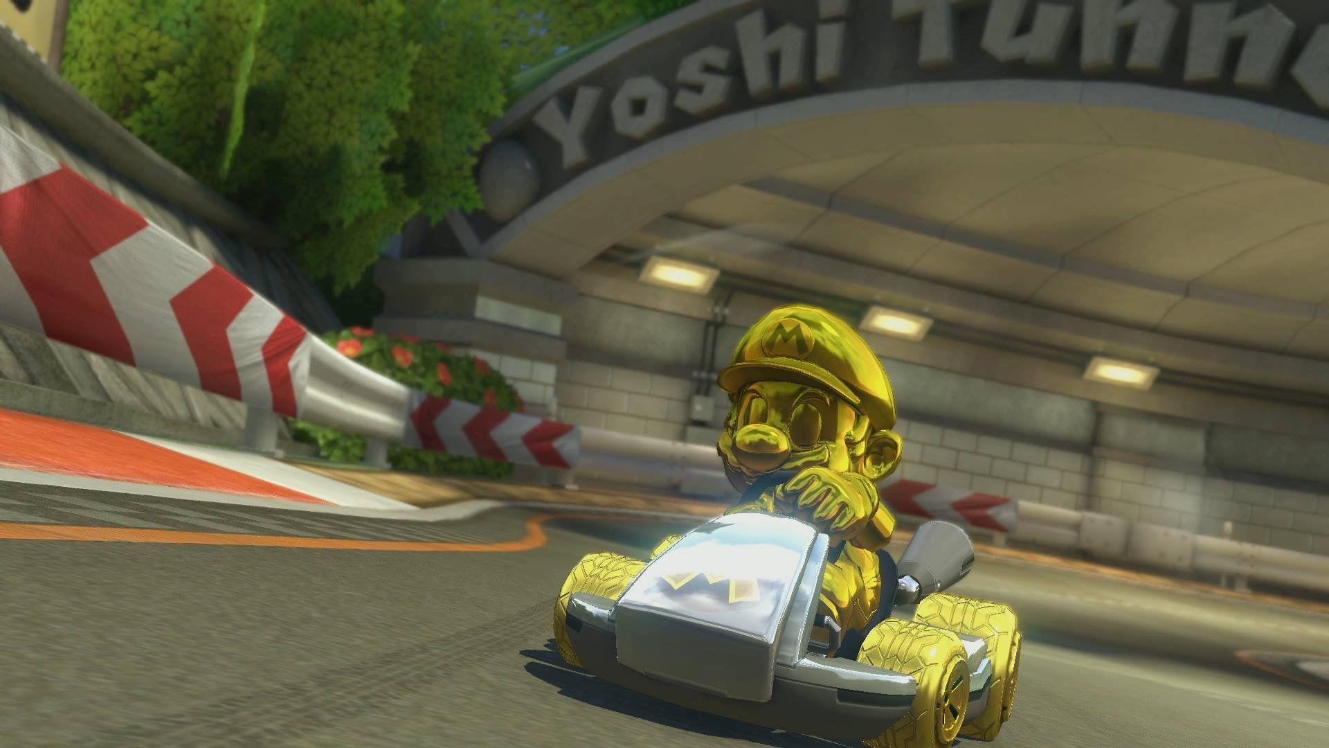 Gold Mario MK8D