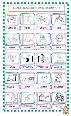 CLASSROOM LANGUAGE PICTIONARY.pdf | Ideas for teaching - English ...