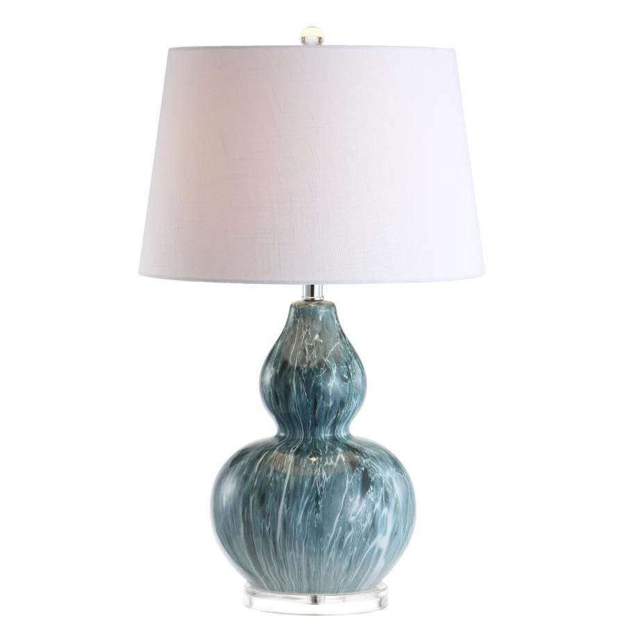 Jonathan Y Stockholm 28.5 In. Ceramic Led Table Lamp, Blue ...