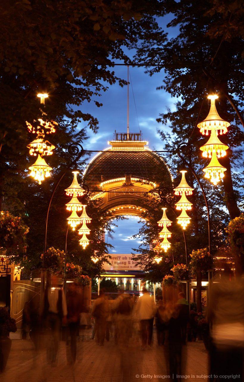 Denmark, Copenhagen, Tivoli Gardens... Travelled all over