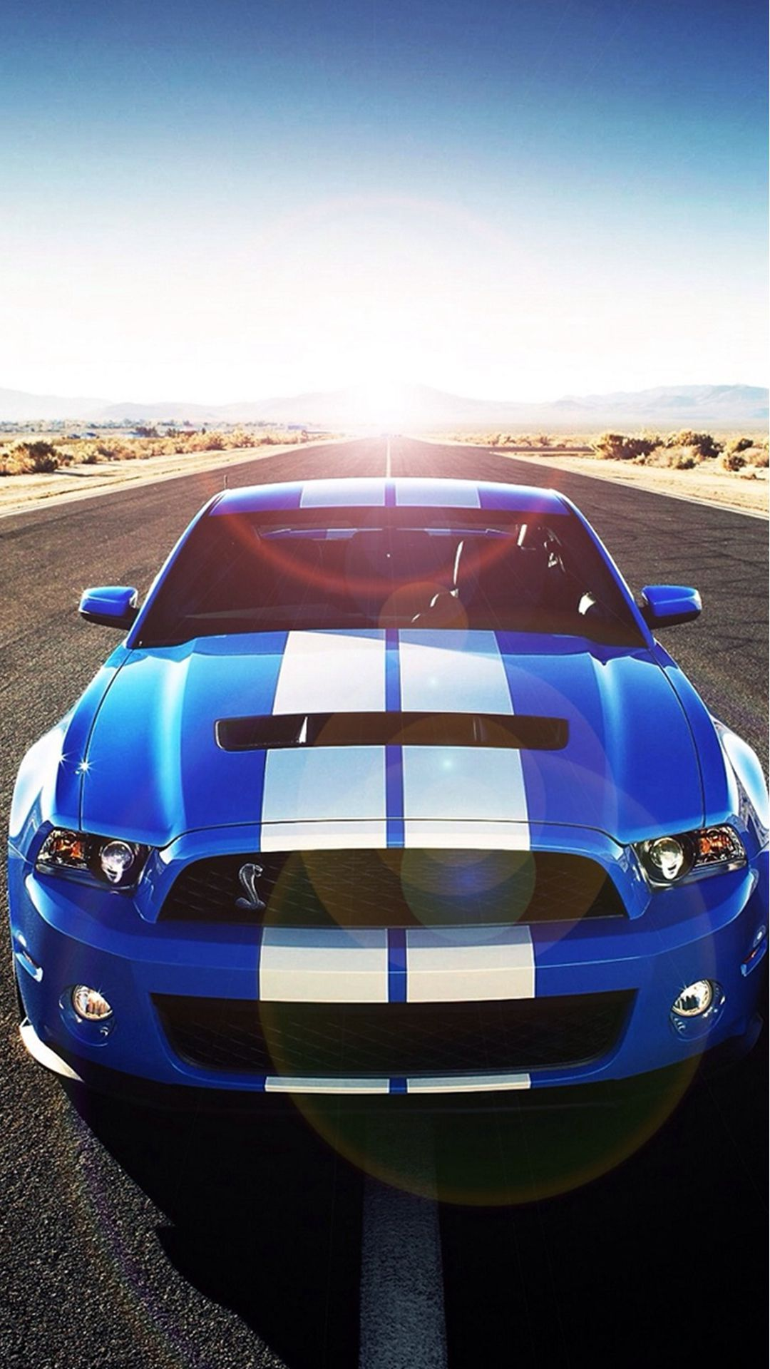 Sunshine Road Blue Cool Car IPhone 6 Plus Wallpaper
