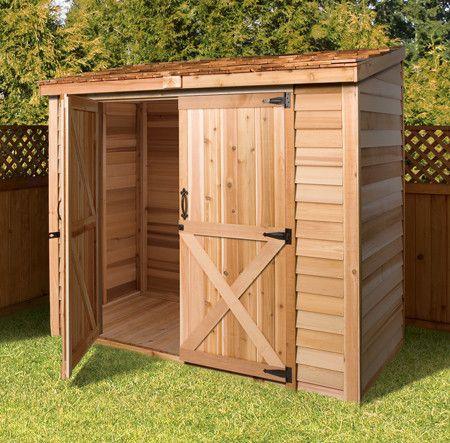 Bayside Diy Lean To Storage Sheds Cedar Shed 400 x 300