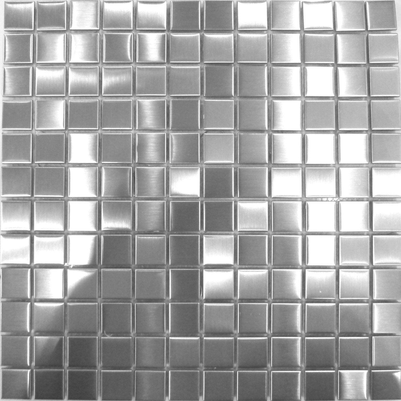 Edelstahl Mosaik Fliesen Matte In Gebürstetem Silber MT0036: Amazon.de:  Küche U0026 Haushalt