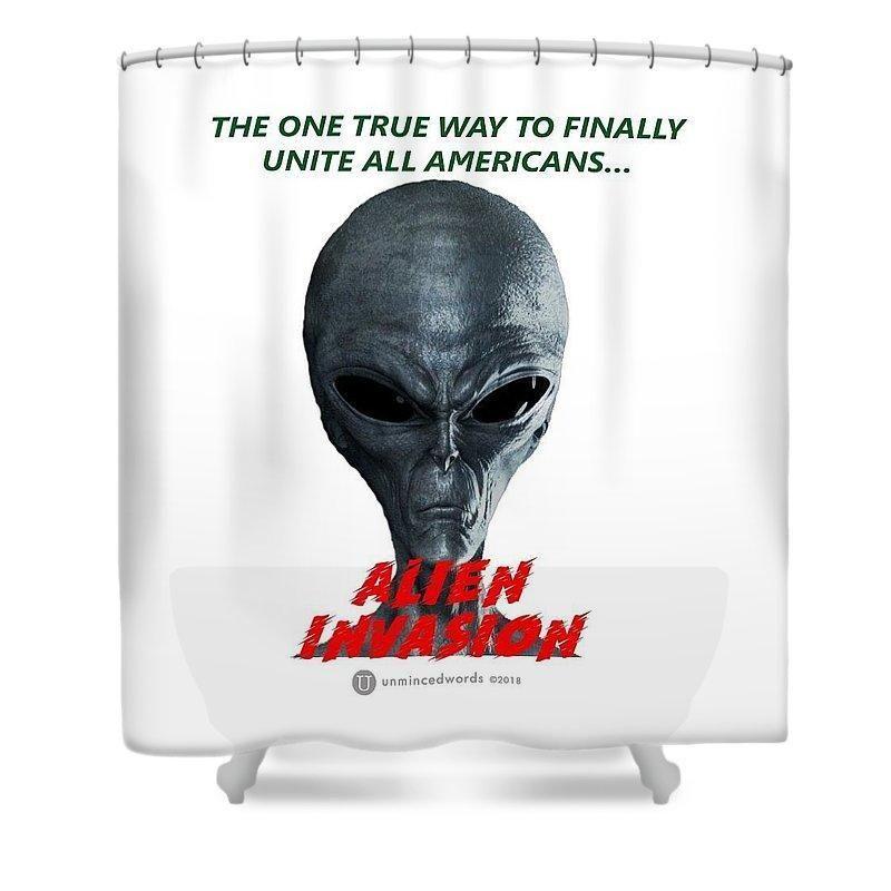 Alien Invasion Shower Curtain Alien Invasion Invasion Alien
