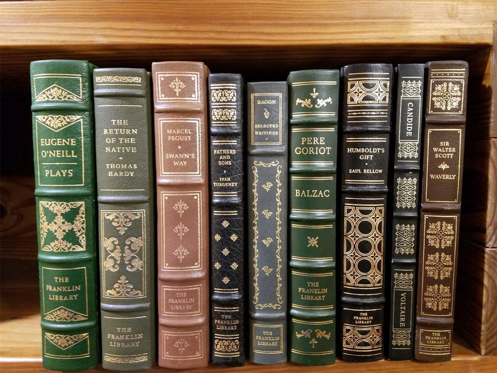 Lot 1 Nine Classic Franklin Library Fine Leather Bound Books