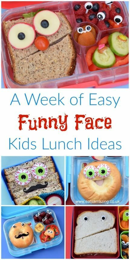 A Week of Easy Funny Face Lunches #schoollunchideasforkids