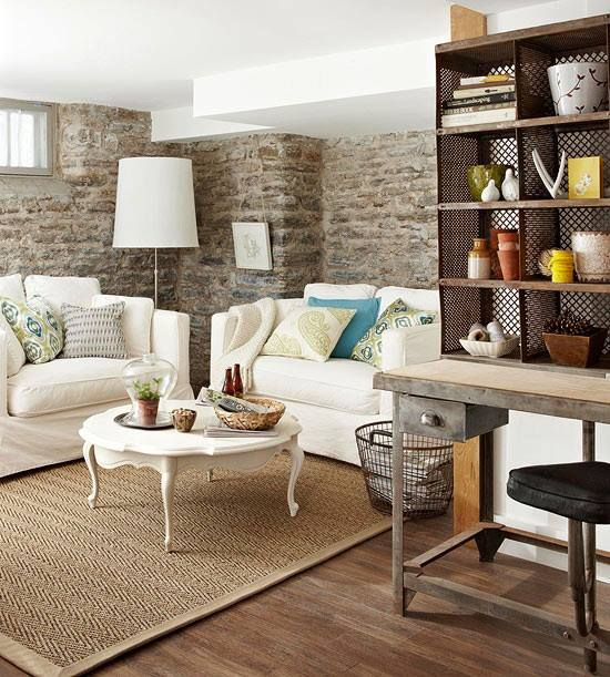 a small space cottage tour basements white couches and room