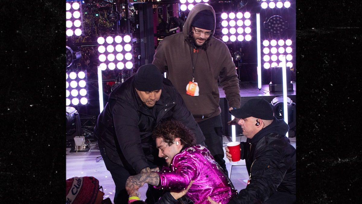 Post Malone Falls During New Year's Eve Performance in