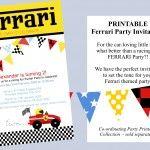 Ferrari Invitation Ferrari Party Pinterest Ferrari party and