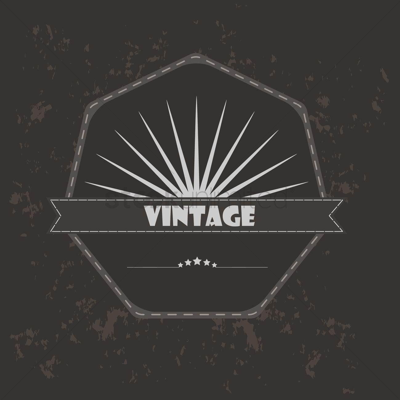 Vintage banner vector illustration