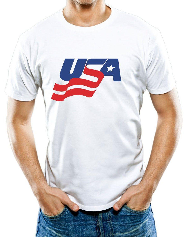 cf06da3d0 Amazon.com  Universal Apparel Men s USA Hockey T-Shirt 2XL White  Clothing