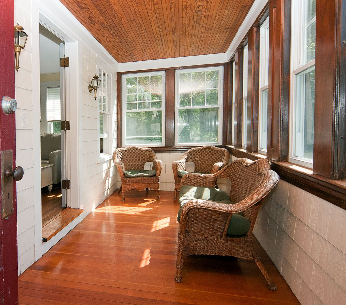 Interior Small Narrow Enclosed Porch Room Like Window Height And Ing