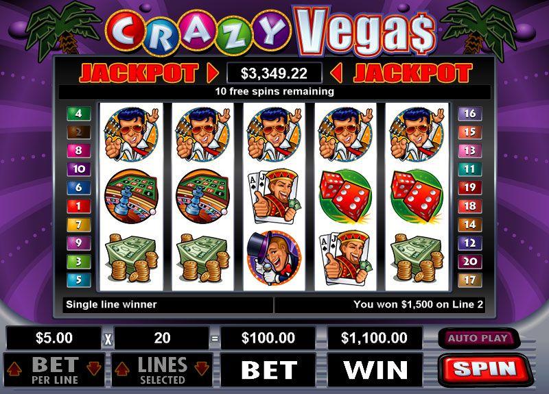 Crazy Vegas Slot Review Excellent Online Slots Canada
