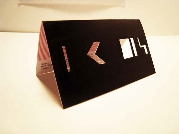 carddsgn | Kathy Lam's - die-cut business cards