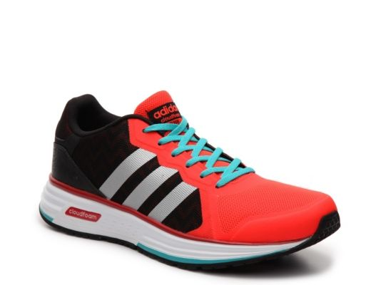 adidas cloudfoam black orange