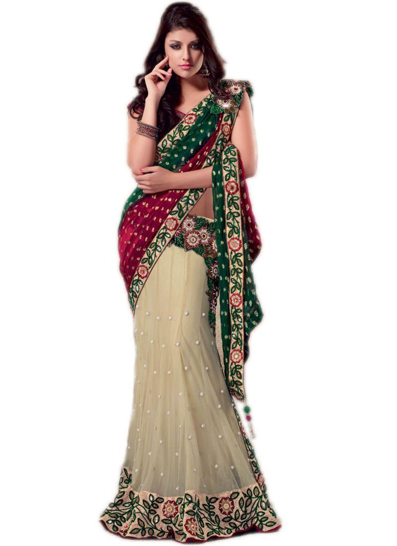Modern And Designer Lehenga Style Saree For Marriage