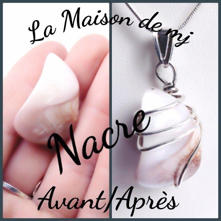 Pendentif Nacre et Argent 925. Bijou Nacre, pendentif pierre naturelle. Je suis une créatrice de bijoux en pierres naturelles et Argent. Découvrez mes bijoux faits mains. Retrouvez cet article dans ma boutique Etsy http://etsy.me/2Eo7Ih2