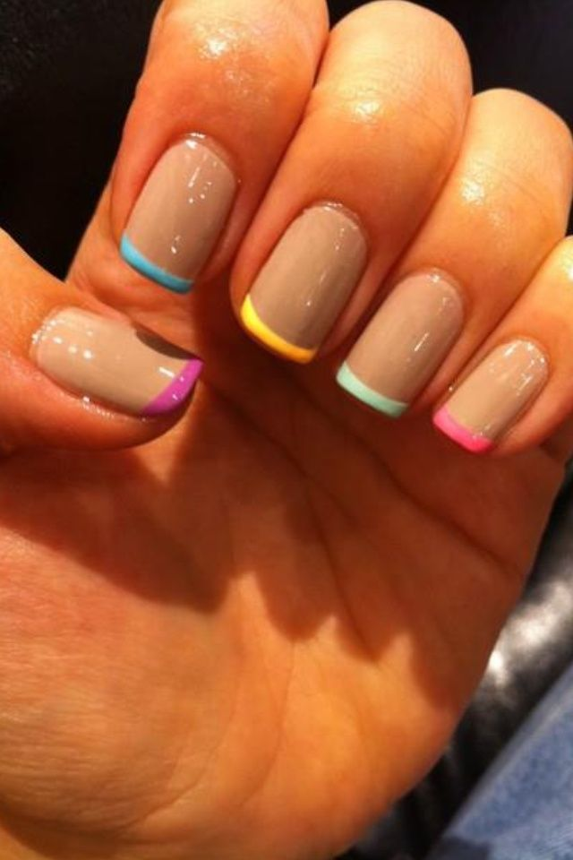 A spin on the classic french manicure, a fun twist for spring ...