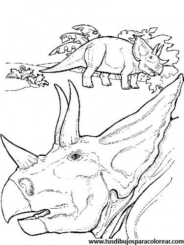 dibujos para colorear de dinosaurios | Dibujos para colorear | Pinterest