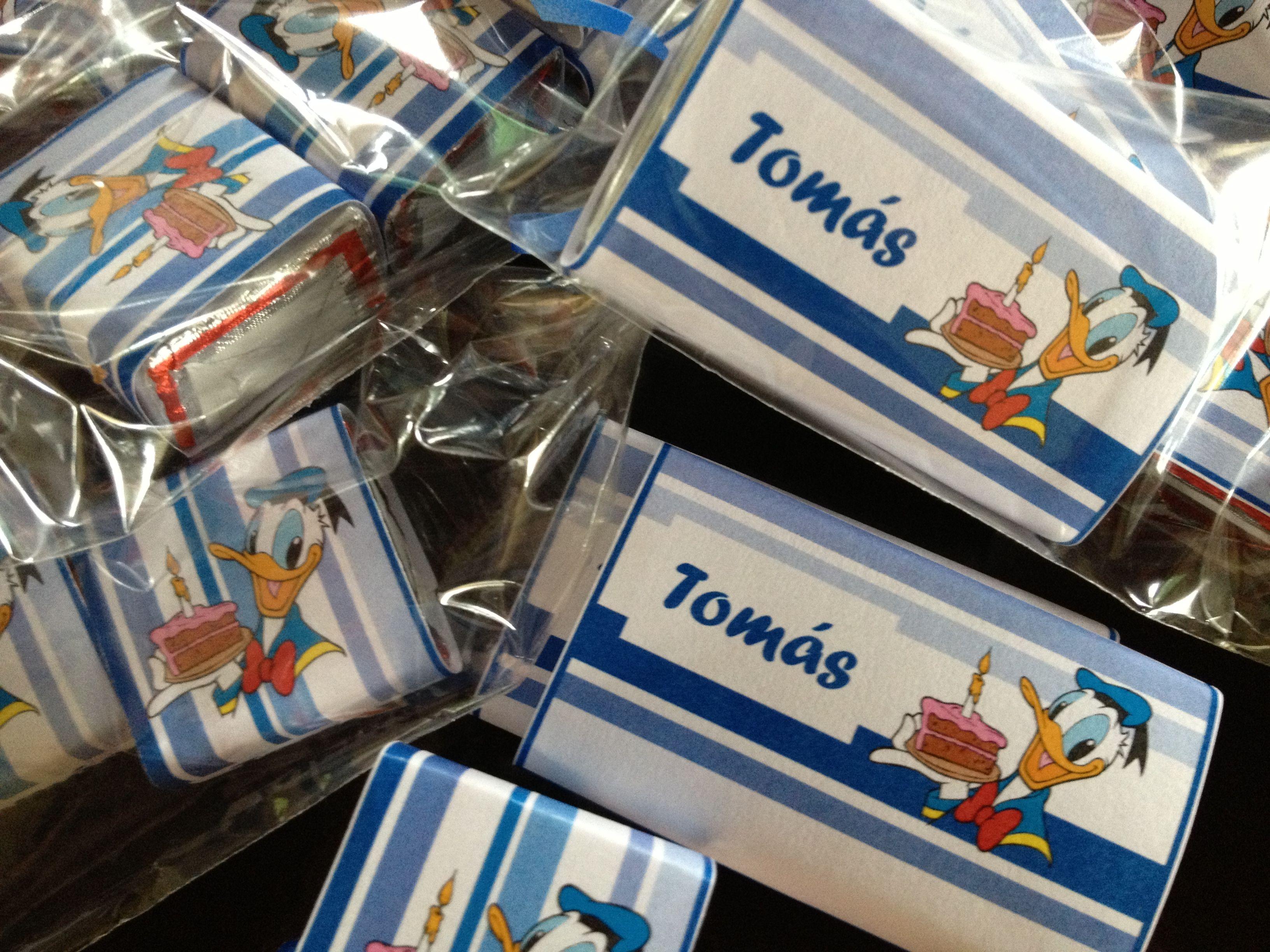 Para el festejo en el jardn de Tomás bolsitas con golosinas
