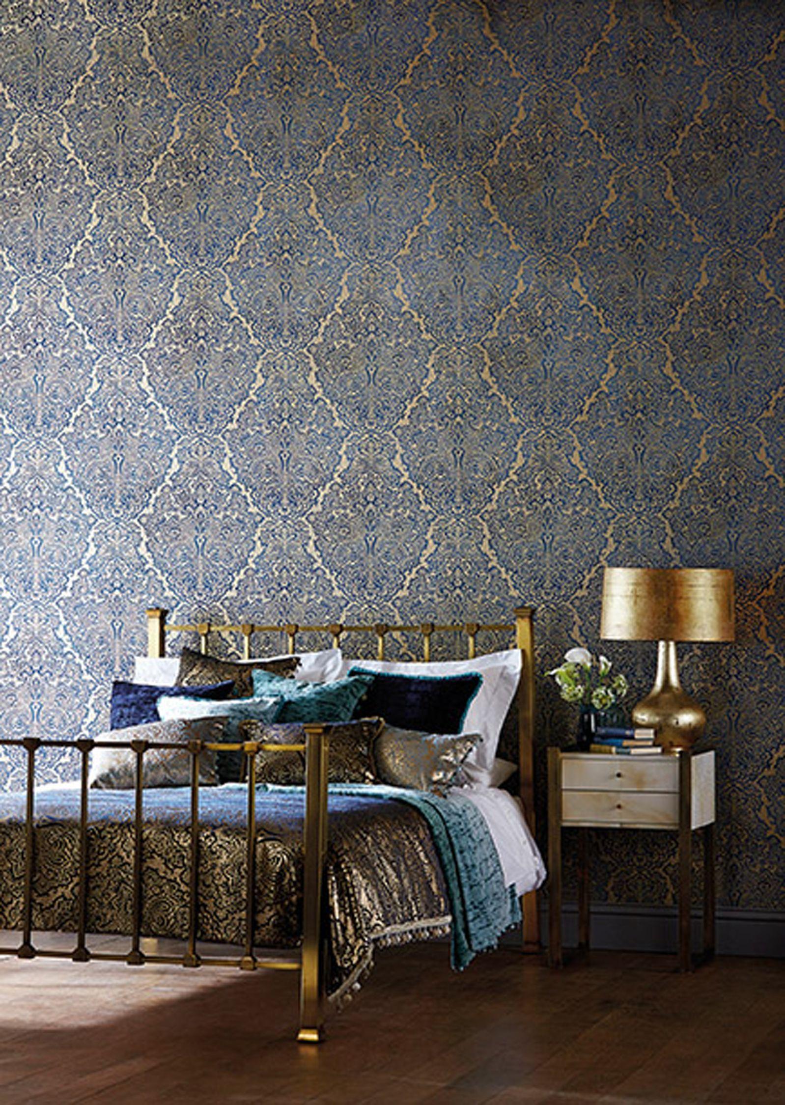 Harlequin Aurelia Paste the Wall Wallpaper, Antique Gold