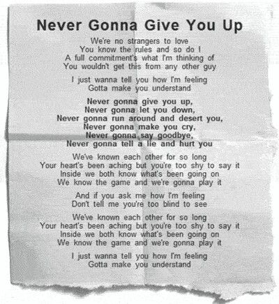 Never Gonna Give Up Rick Astley Im Thinking About You Never Gonna