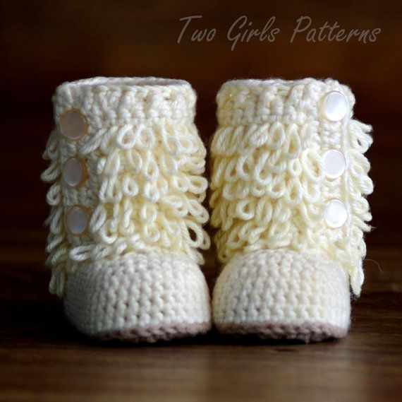 CROCHET PATTERN #200 - Baby Furrylicious Boots - Loopy Crochet Boots ...