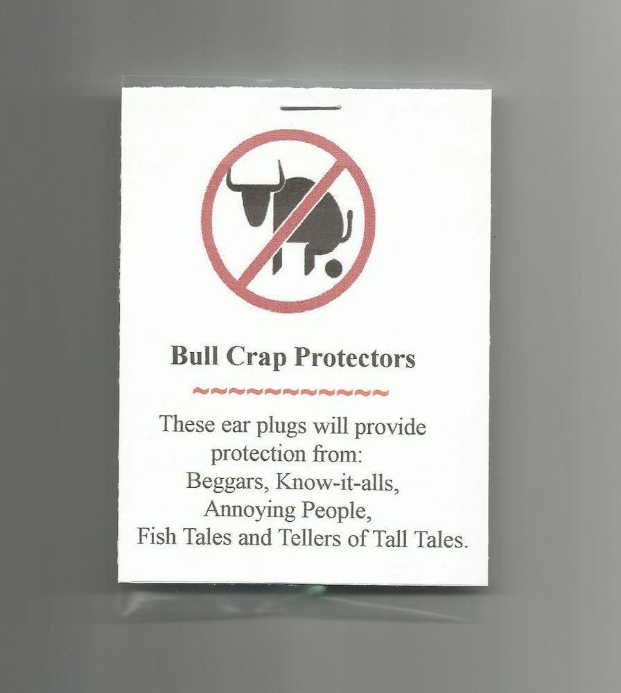 New Homemade Bull Crap Protectors Novelty Gag Gift Prank Joke Party ...