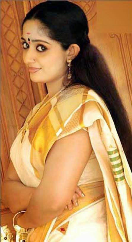 Kavya Madhavan In Set Saree Photos Malayalam Actress