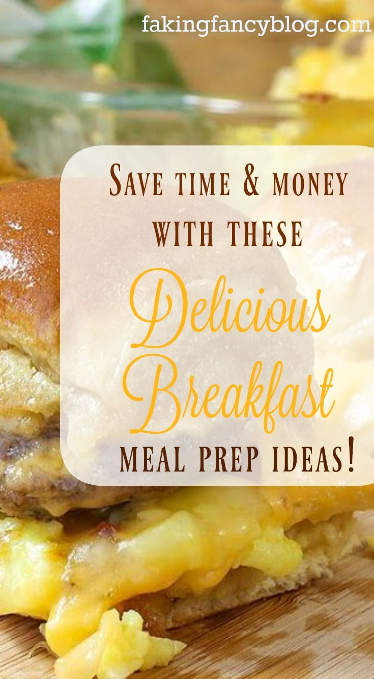 Quick and easy meal prep ideas for breakfast! From burritos to biscuit sandwiches, these easy freezer meal breakfast preps will save you time, money and gray hair!