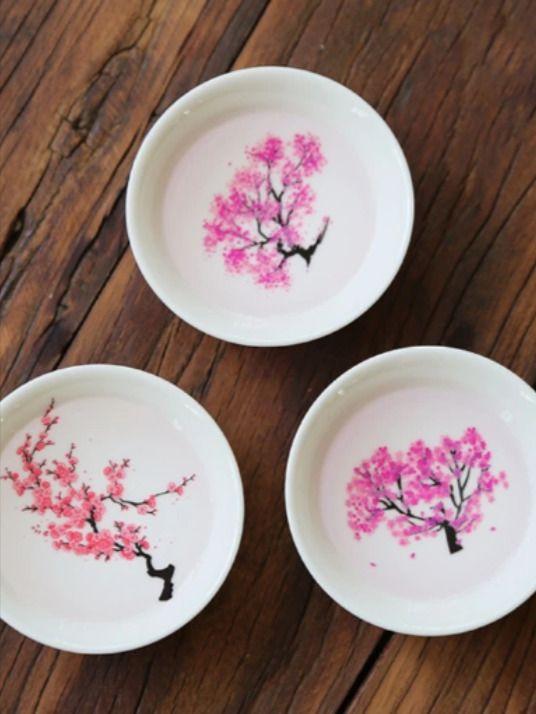 Magic Cherry Blossom Sake Cup