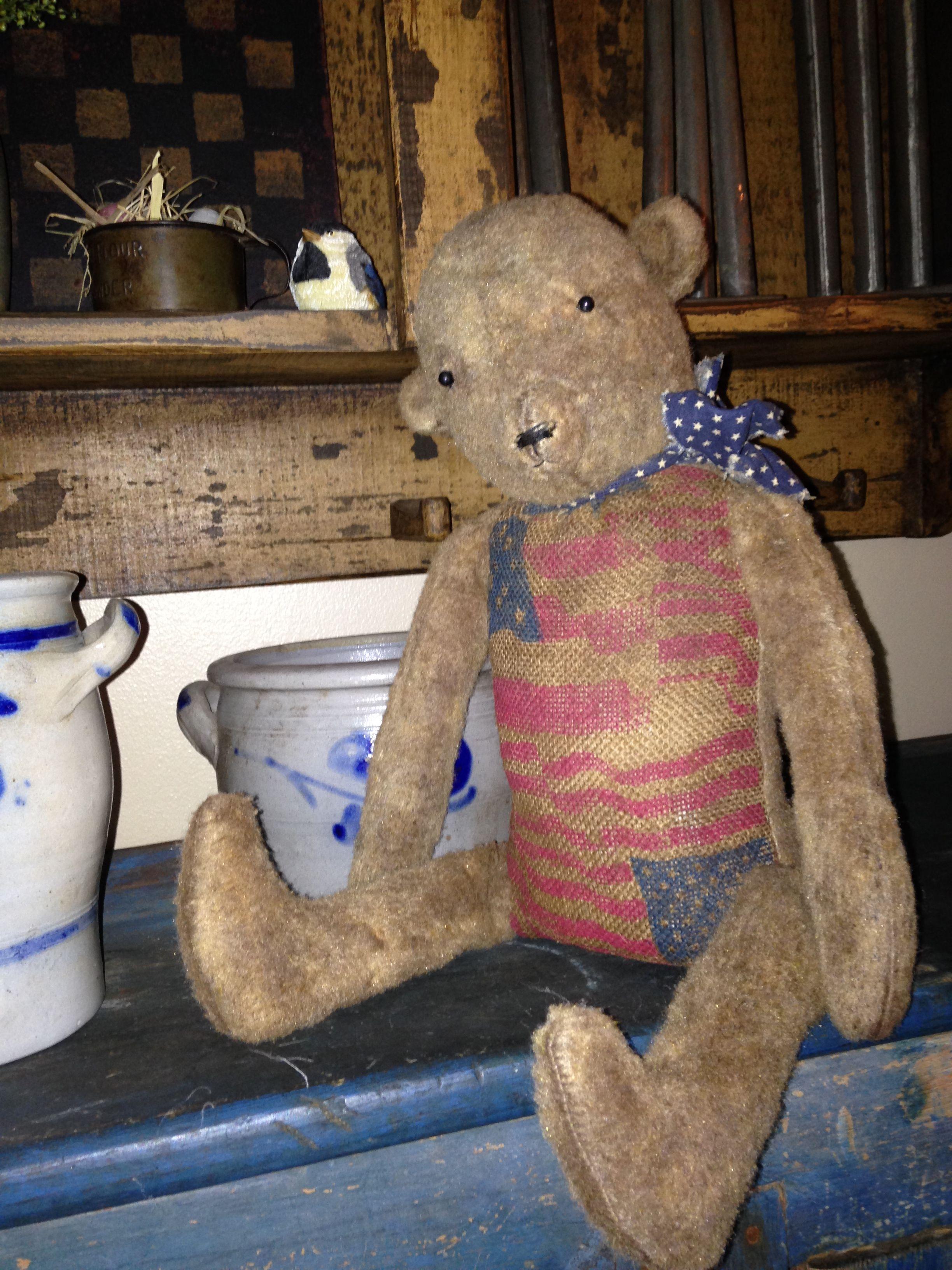Gilbert the bear, a creation of Lisa Stokem.