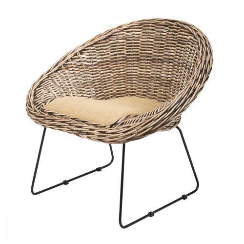 meuble en rotin et fauteuil en kubu sur Rotin Design