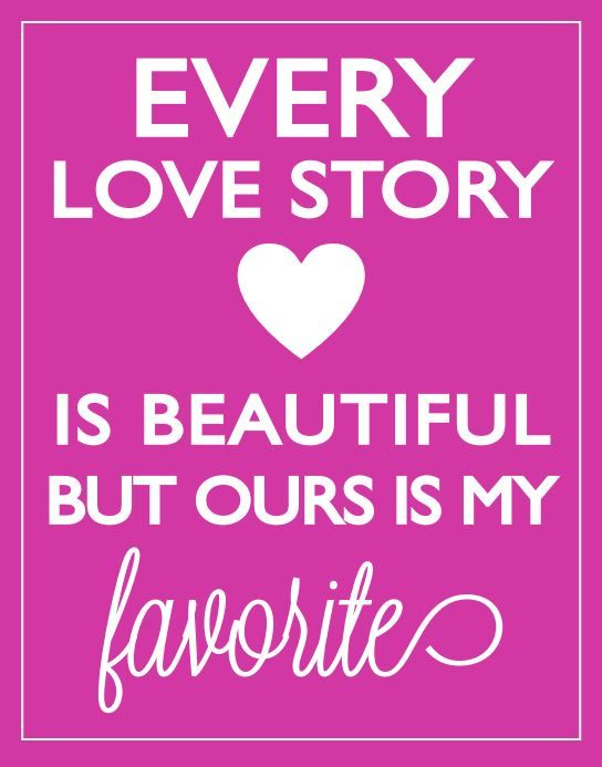 Our Love Story + Free Printable HOLIDAYS - Valentines Day Love