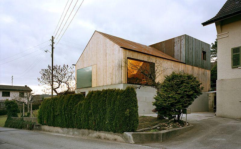 Degelo Architekten - Studio House (conversion of a former barn), Büsserach 2007
